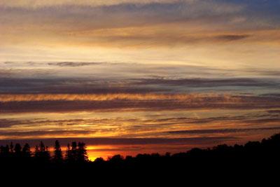sunset over brockport